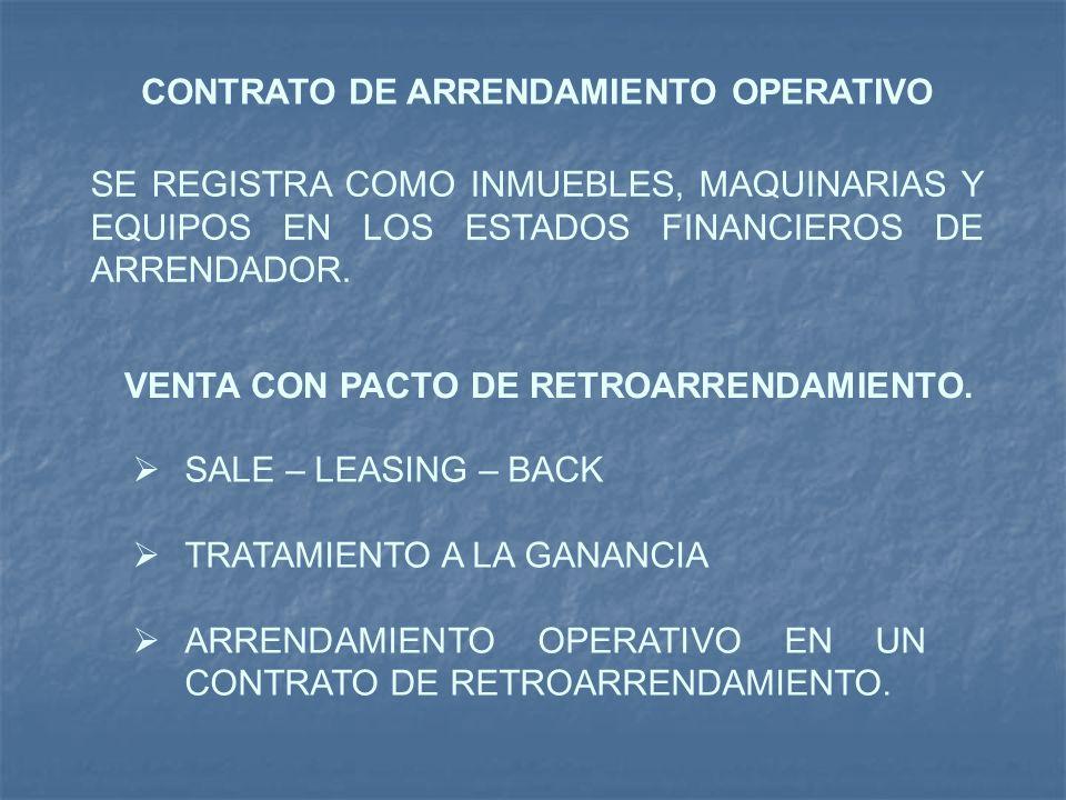 CONTRATO DE ARRENDAMIENTO OPERATIVO