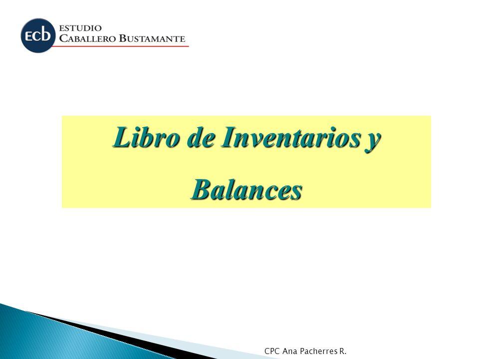 Libro de Inventarios y Balances