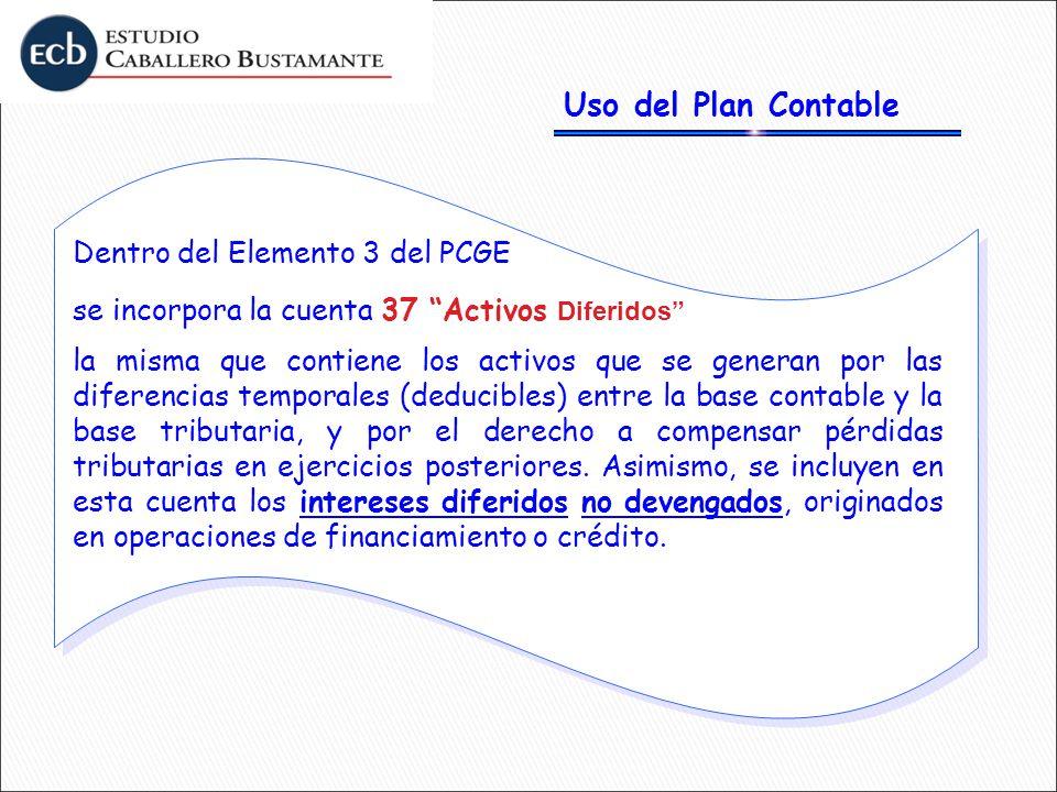 Uso del Plan Contable Dentro del Elemento 3 del PCGE