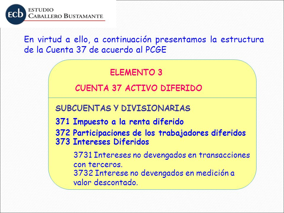 CUENTA 37 ACTIVO DIFERIDO