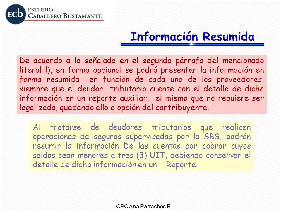 Información Resumida
