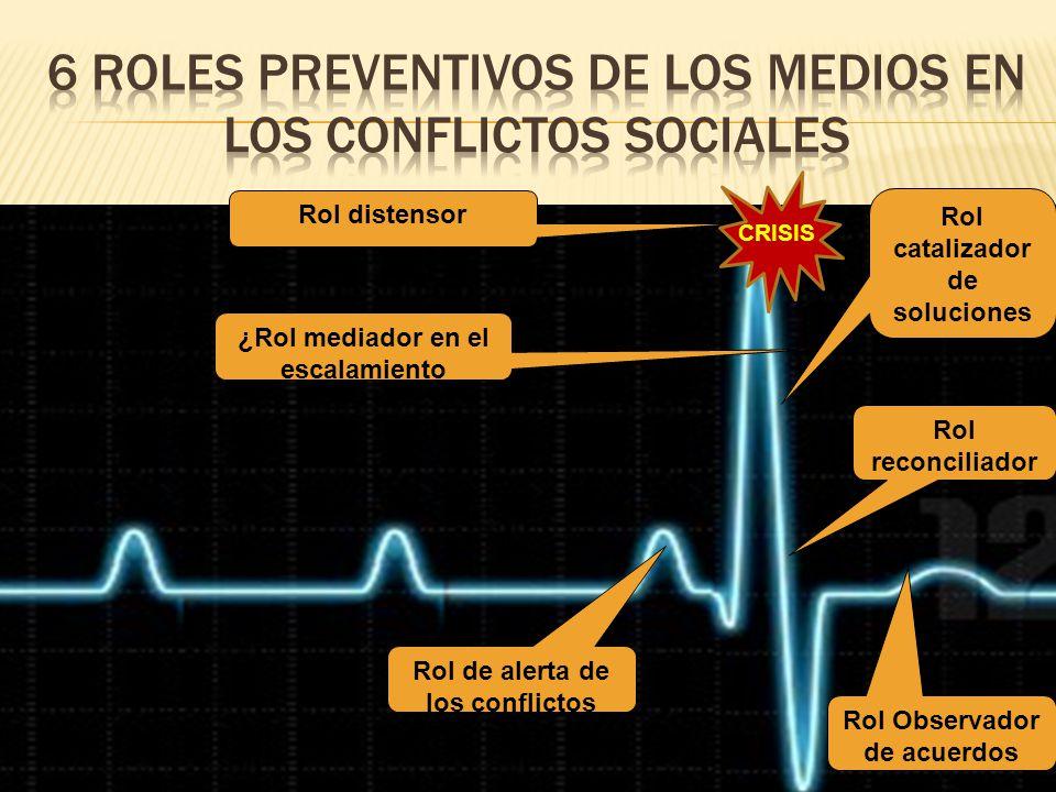 6 Roles preventivos de los medios en los conflictos sociales
