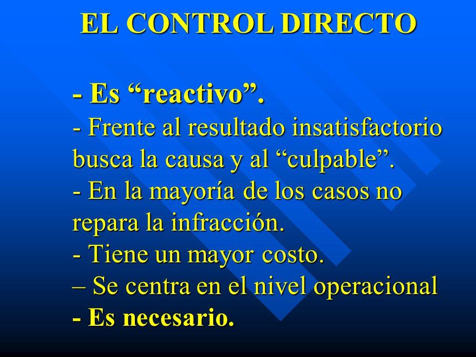 EL CONTROL DIRECTO - Es reactivo