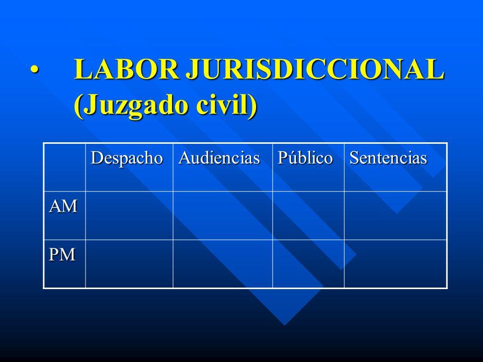 LABOR JURISDICCIONAL (Juzgado civil)