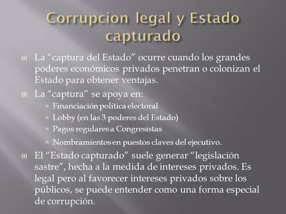 Corrupcion legal y Estado capturado