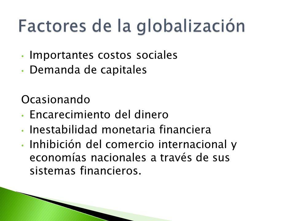Factores de la globalización