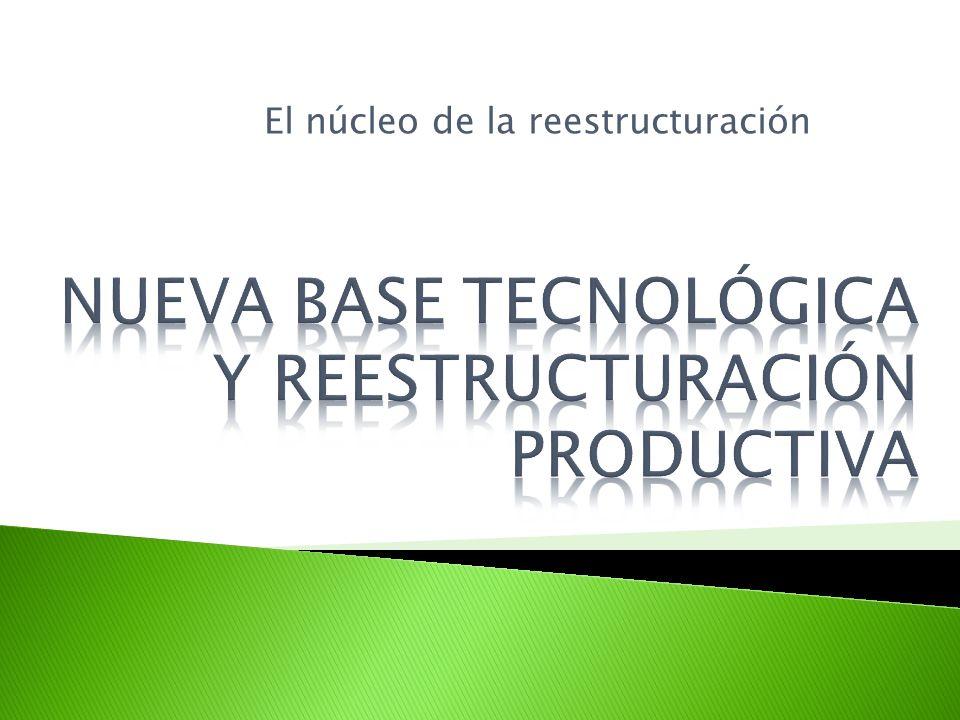 NUEVA BASE TECNOLÓGICA Y REESTRUCTURACIÓN PRODUCTIVA
