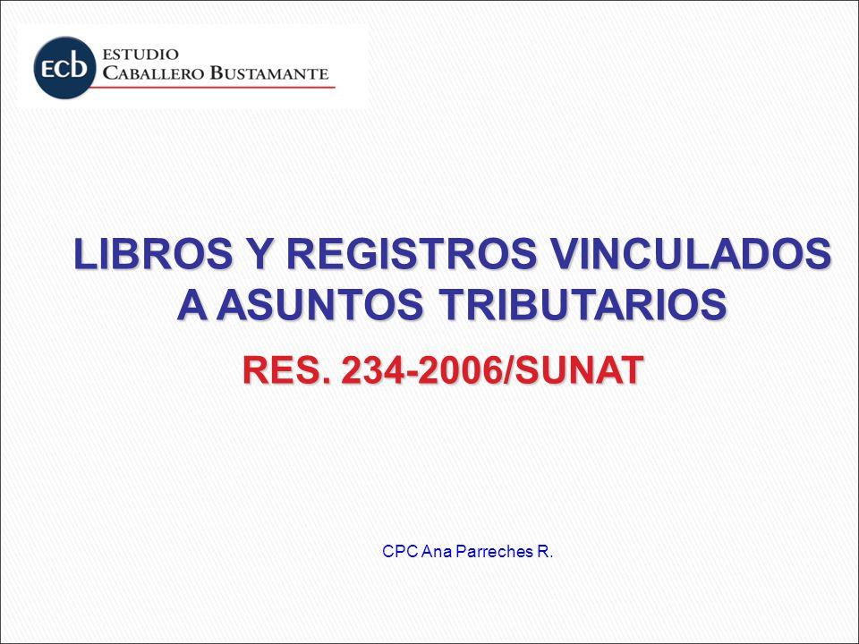 LIBROS Y REGISTROS VINCULADOS