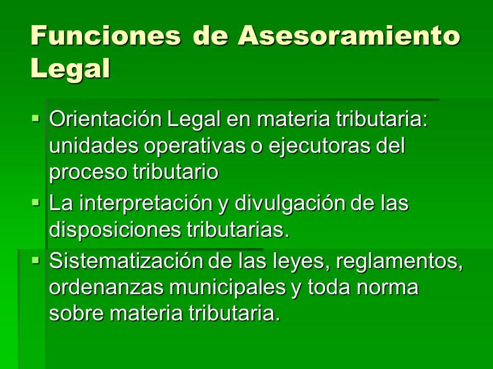 Funciones de Asesoramiento Legal