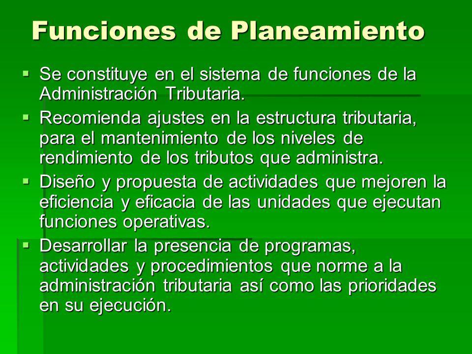 Funciones de Planeamiento