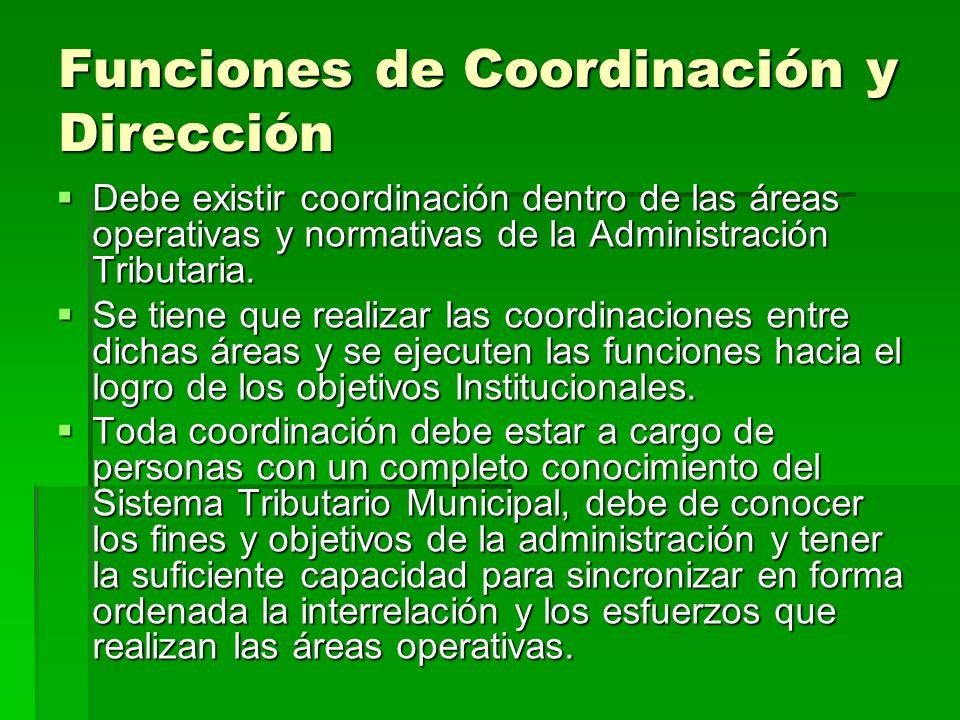 Funciones de Coordinación y Dirección