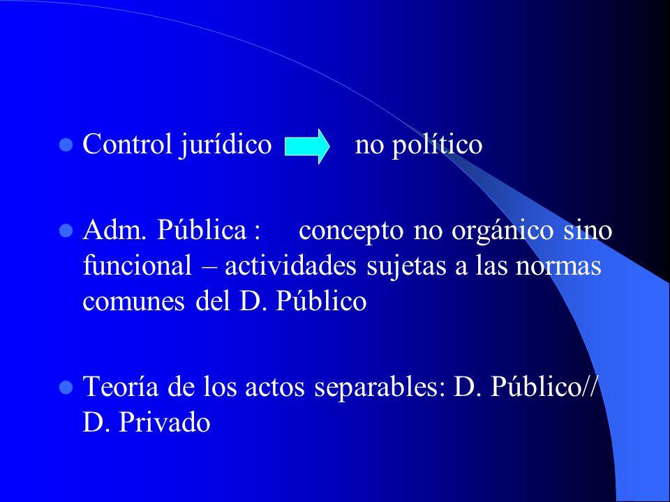 Control jurídico no político