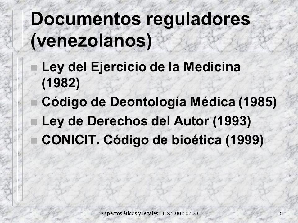 Documentos reguladores (venezolanos)