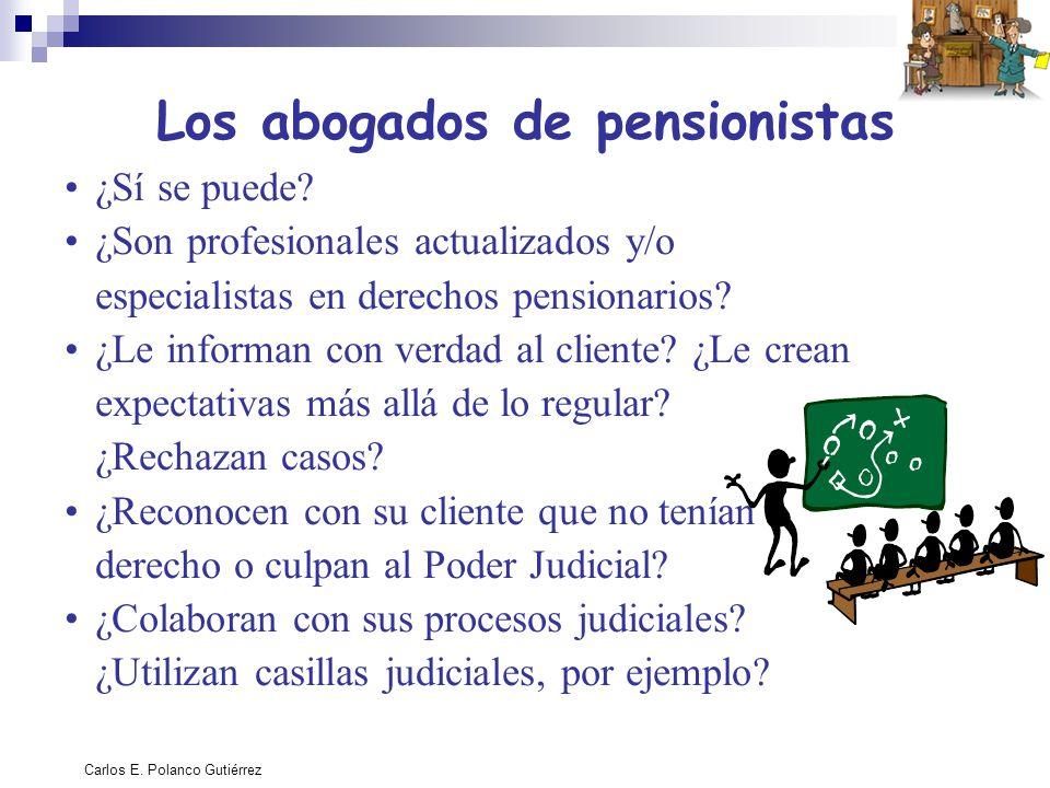 Los abogados de pensionistas