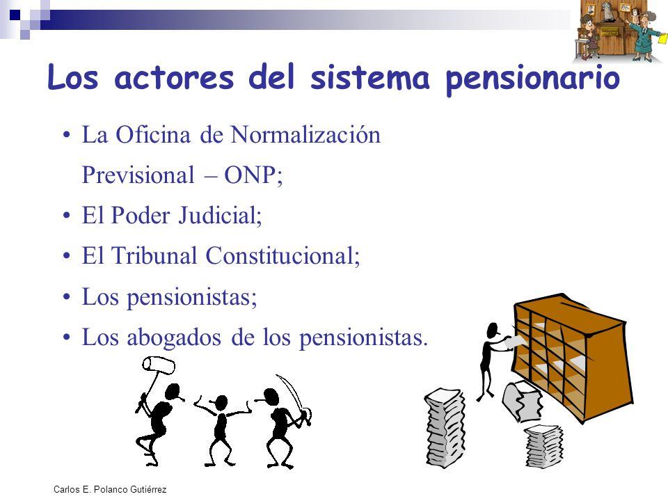 Los actores del sistema pensionario