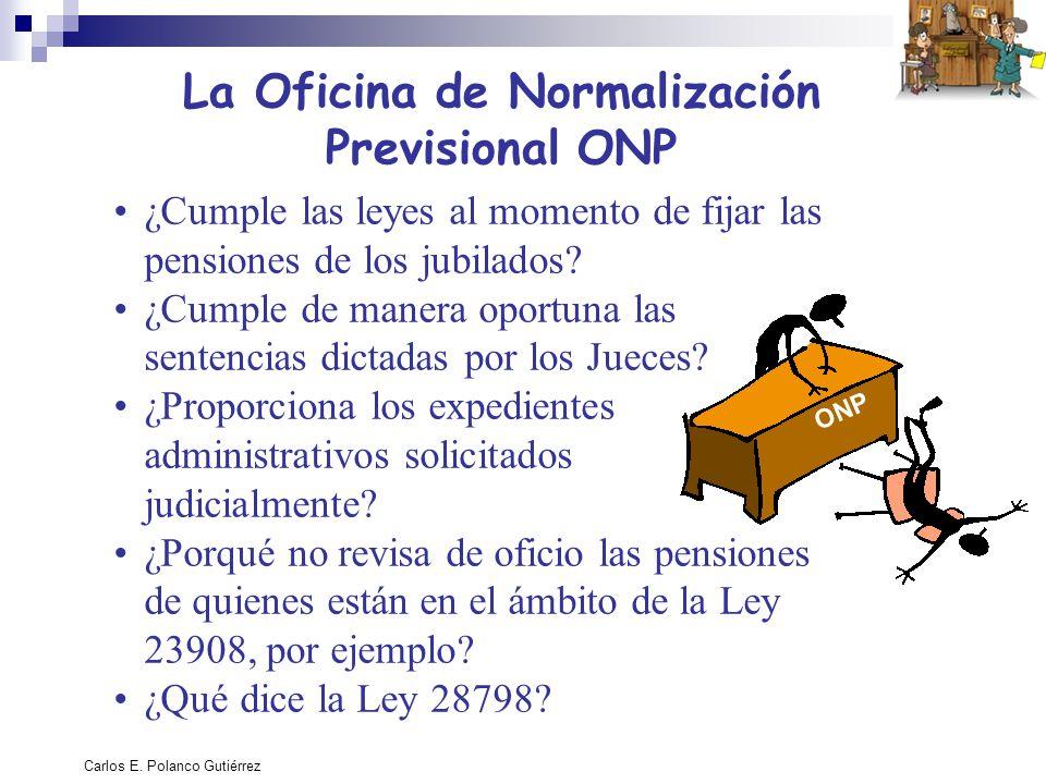 La Oficina de Normalización Previsional ONP