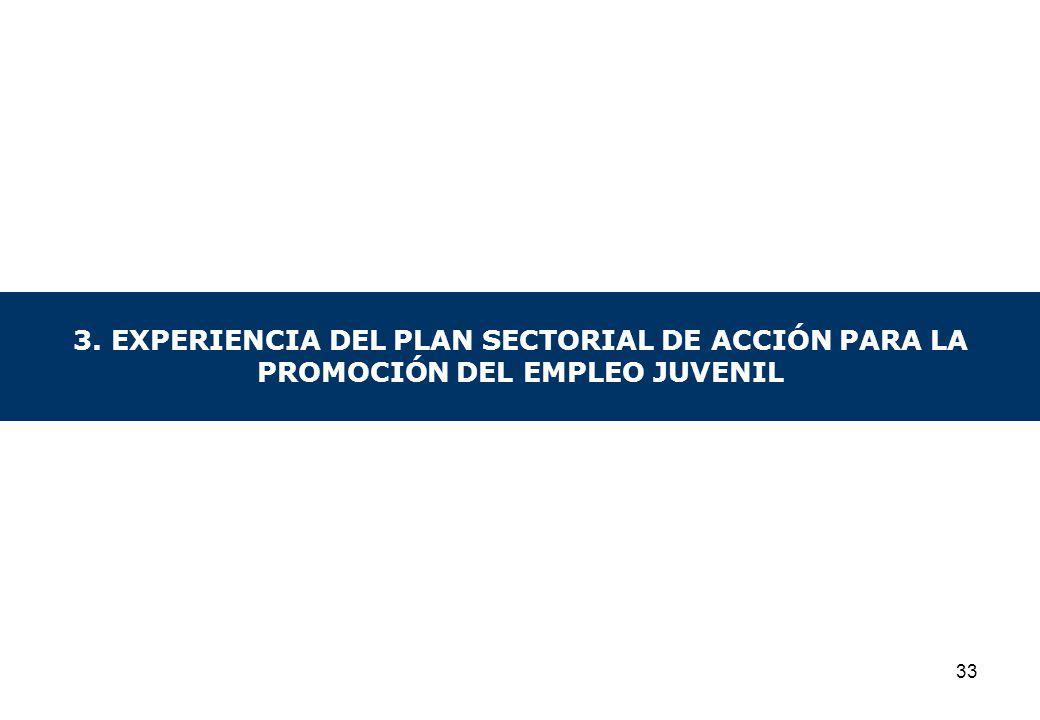 3. EXPERIENCIA DEL PLAN SECTORIAL DE ACCIÓN PARA LA PROMOCIÓN DEL EMPLEO JUVENIL