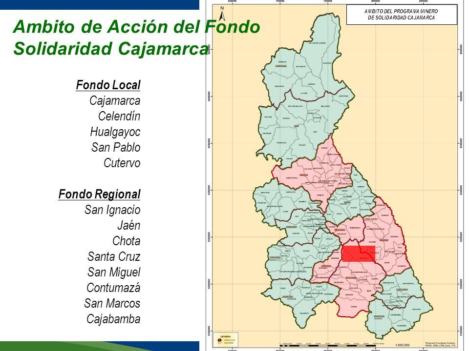 Ambito de Acción del Fondo Solidaridad Cajamarca