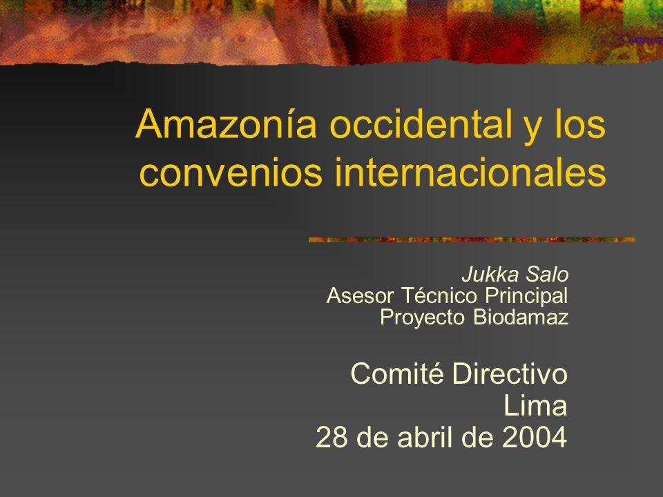 Amazonía occidental y los convenios internacionales