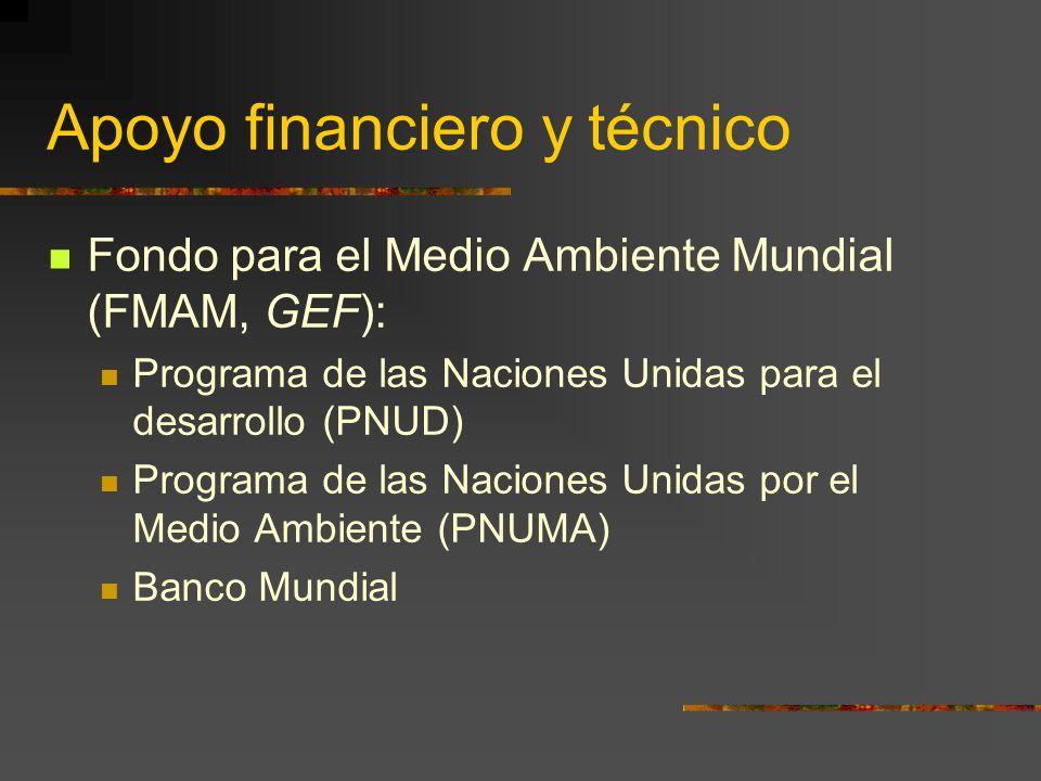 Apoyo financiero y técnico
