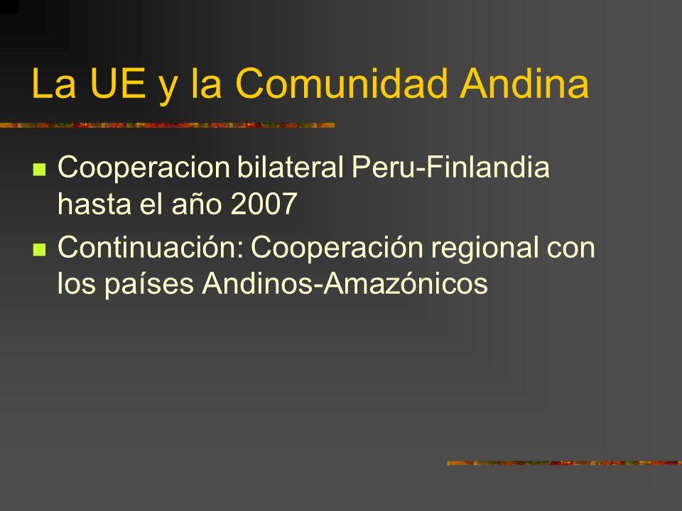 La UE y la Comunidad Andina
