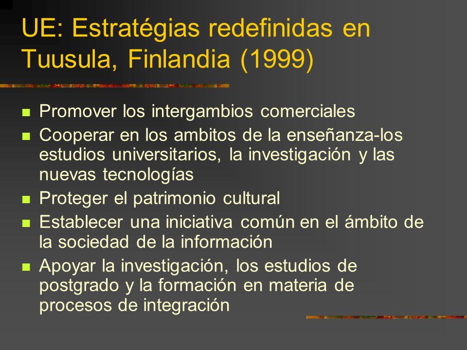 UE: Estratégias redefinidas en Tuusula, Finlandia (1999)