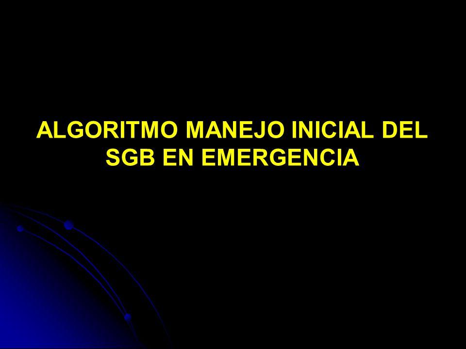 ALGORITMO MANEJO INICIAL DEL SGB EN EMERGENCIA