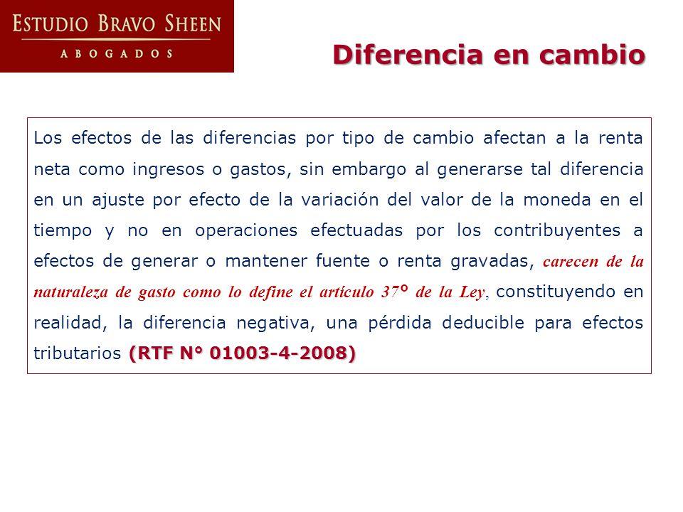 Diferencia en cambio
