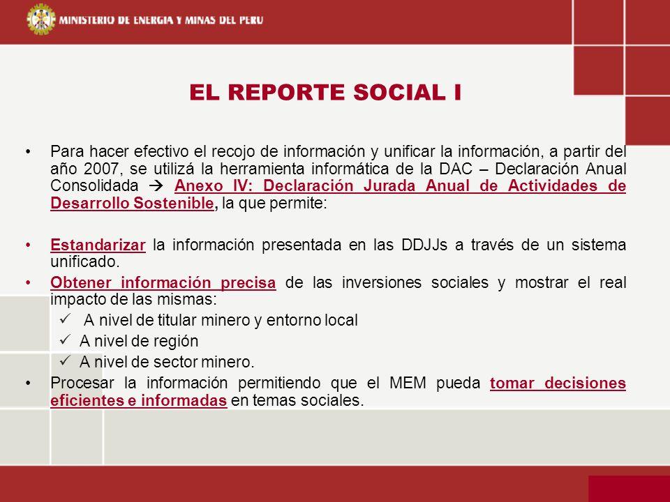 EL REPORTE SOCIAL I