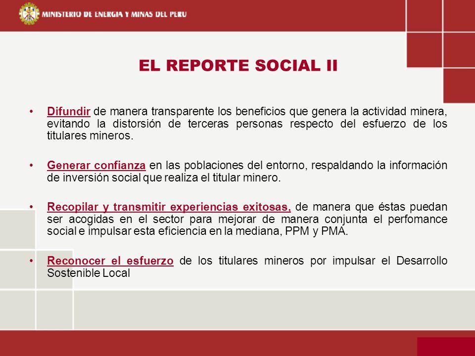 EL REPORTE SOCIAL II