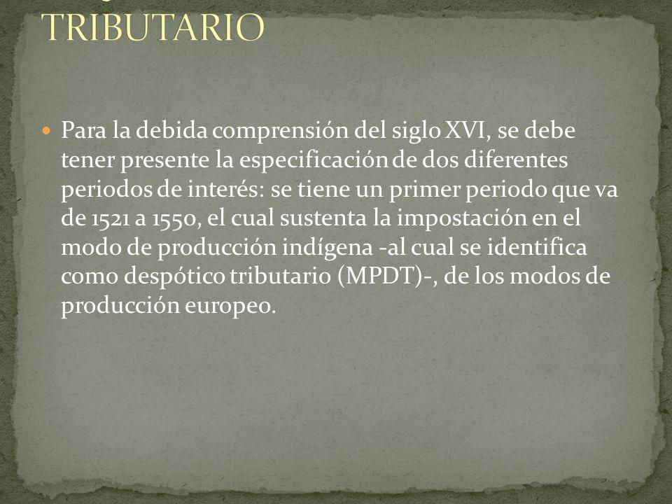 LOS PRIMEROS TIEMPOS Y EL ESQUEMA DESPÓTICO TRIBUTARIO