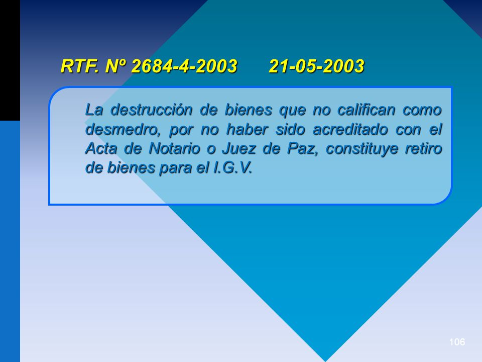 RTF. Nº 2684-4-2003 21-05-2003