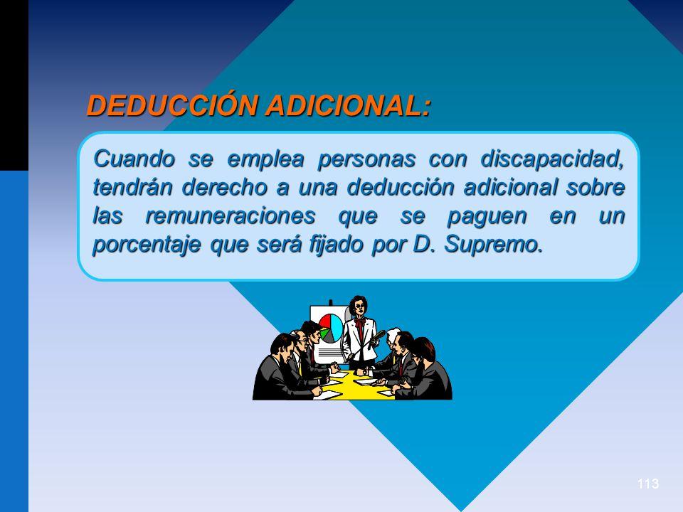 DEDUCCIÓN ADICIONAL: