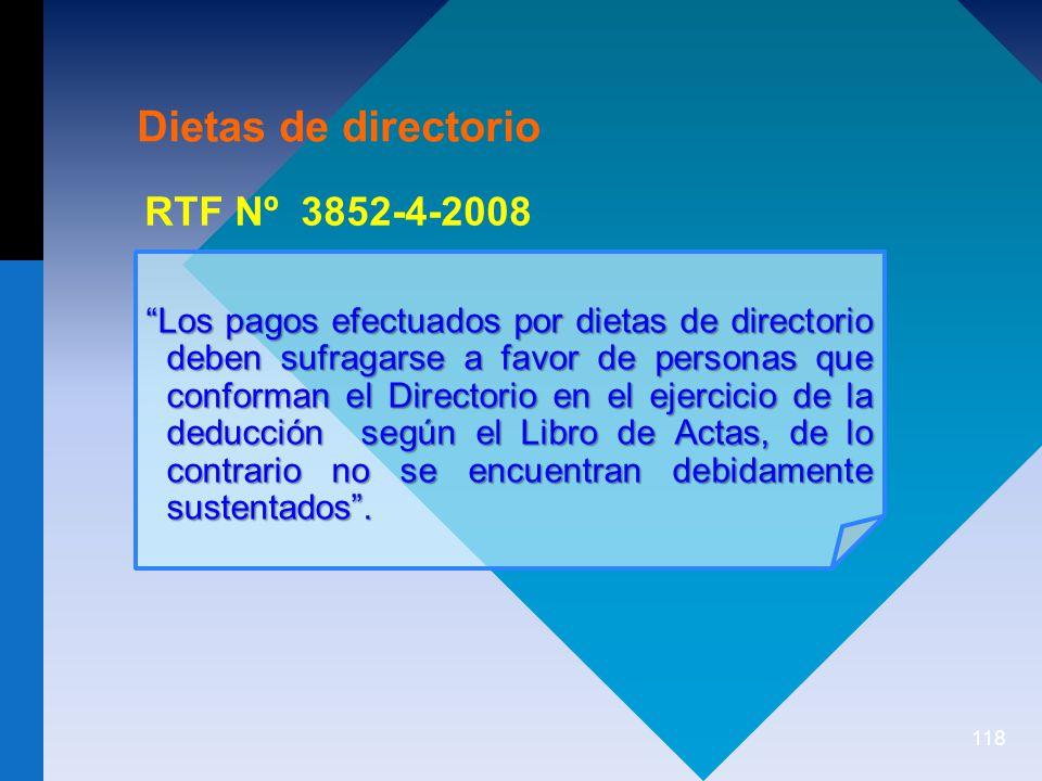 Dietas de directorio RTF Nº 3852-4-2008