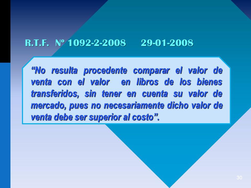 R.T.F. Nº 1092-2-2008 29-01-2008