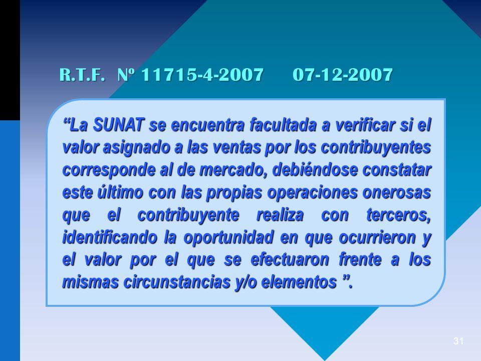 R.T.F. Nº 11715-4-2007 07-12-2007