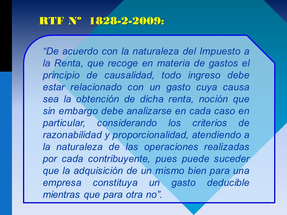 RTF Nº 1828-2-2009: