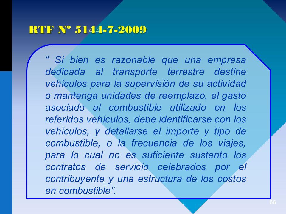 RTF Nº 5144-7-2009