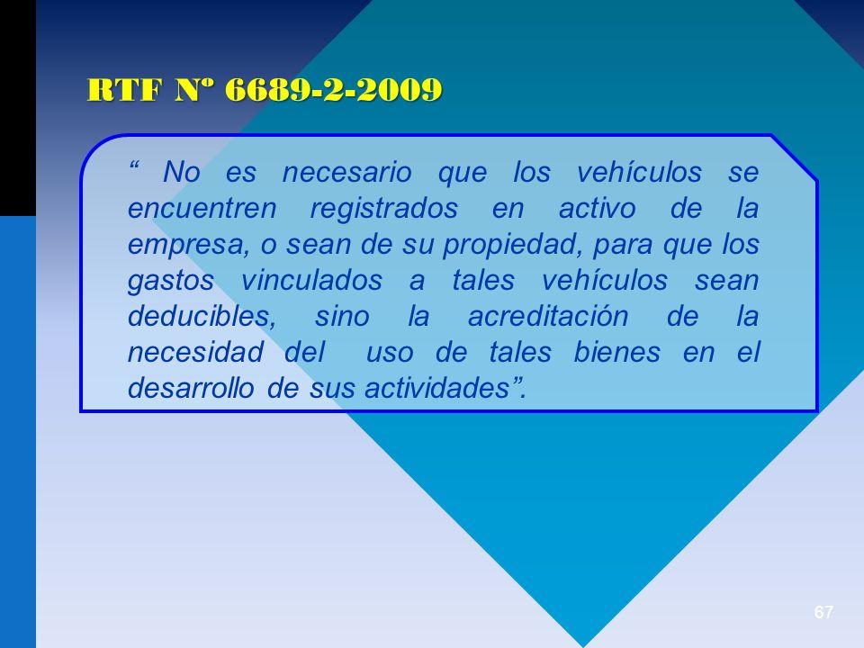 RTF Nº 6689-2-2009