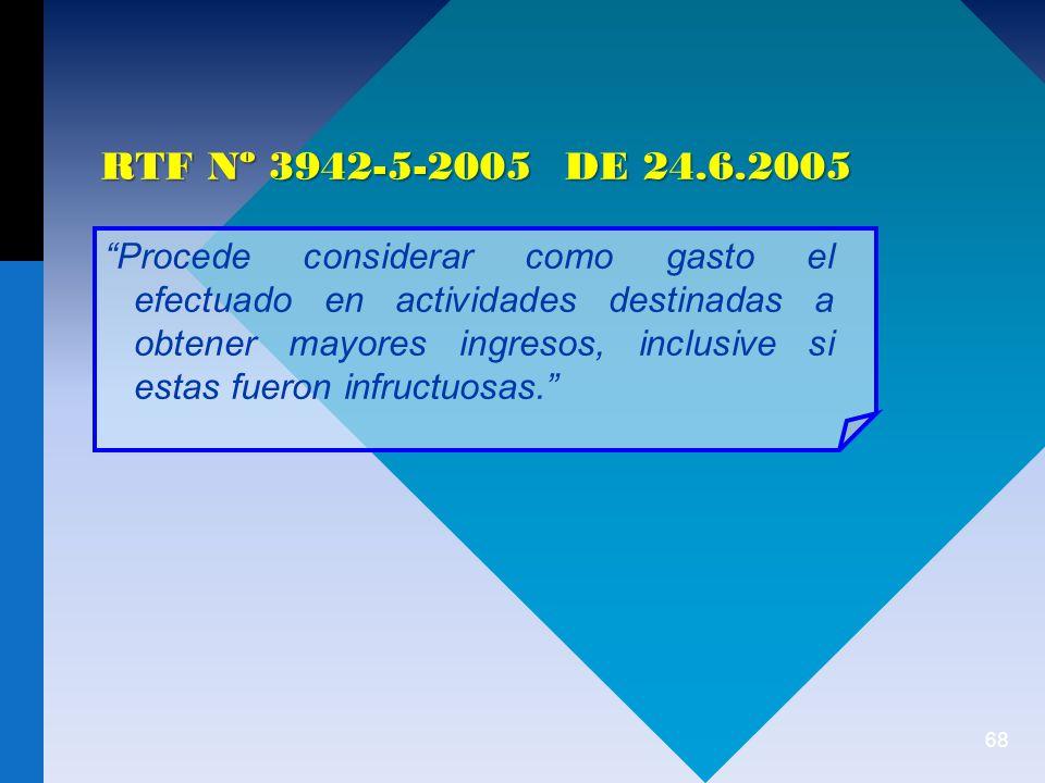 RTF Nº 3942-5-2005 DE 24.6.2005