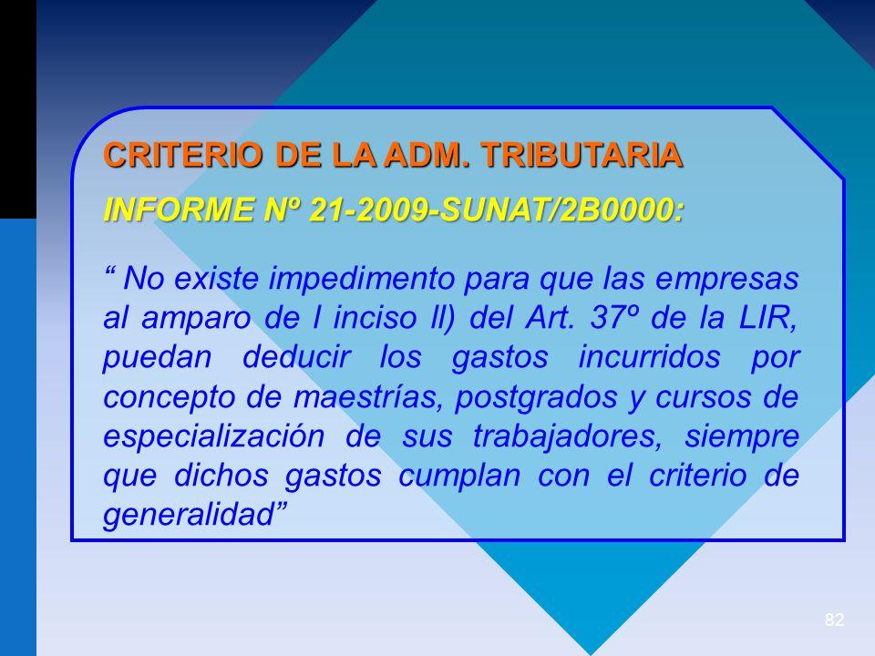 CRITERIO DE LA ADM. TRIBUTARIA