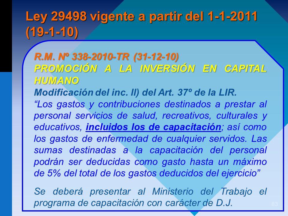 Ley 29498 vigente a partir del 1-1-2011 (19-1-10)