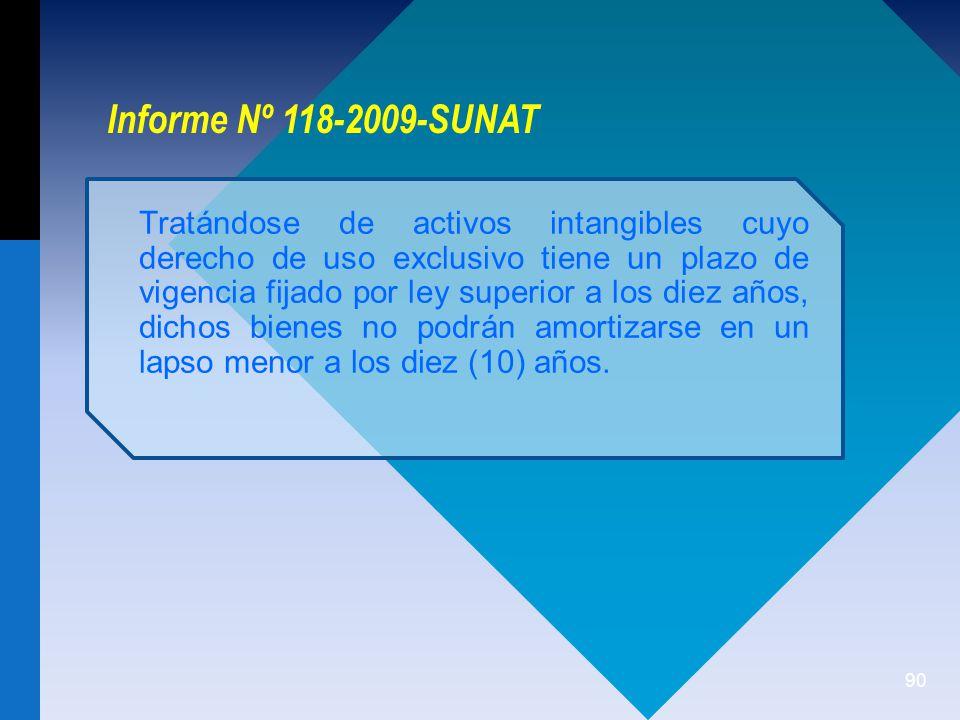 Informe Nº 118-2009-SUNAT
