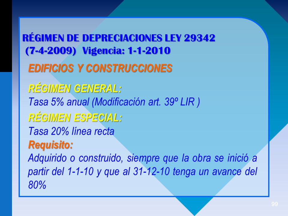 EDIFICIOS Y CONSTRUCCIONES RÉGIMEN GENERAL: