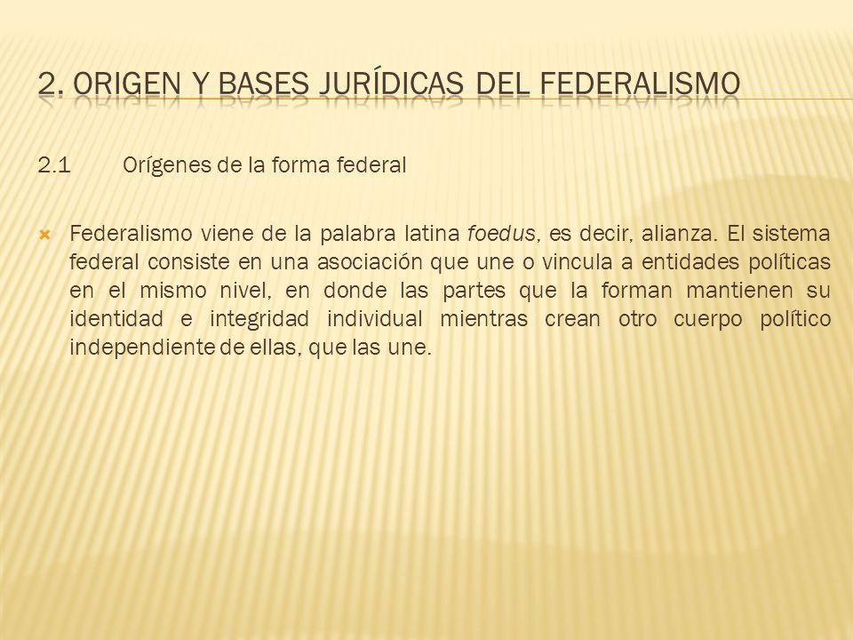 2. Origen y bases jurídicas del federalismo