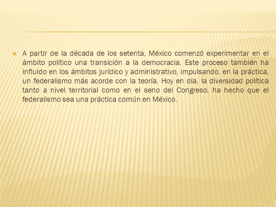 A partir de la década de los setenta, México comenzó experimentar en el ámbito político una transición a la democracia.