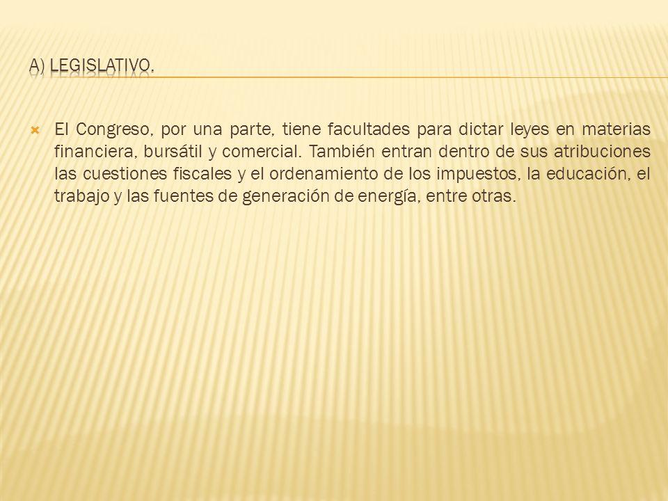 a) Legislativo.