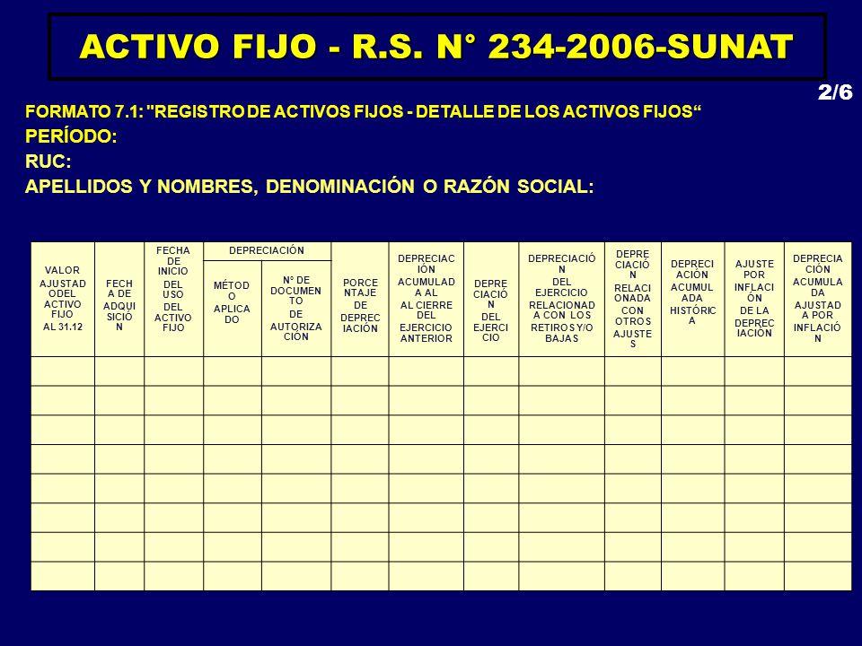 ACTIVO FIJO - R.S. N° 234-2006-SUNAT AJUSTADODEL ACTIVO FIJO