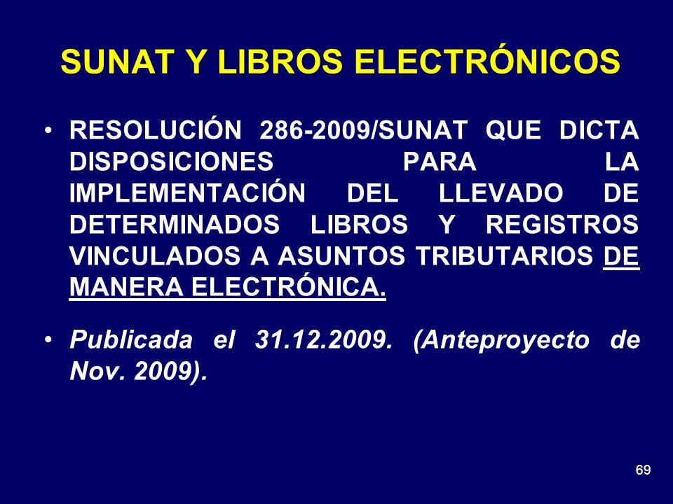 SUNAT Y LIBROS ELECTRÓNICOS