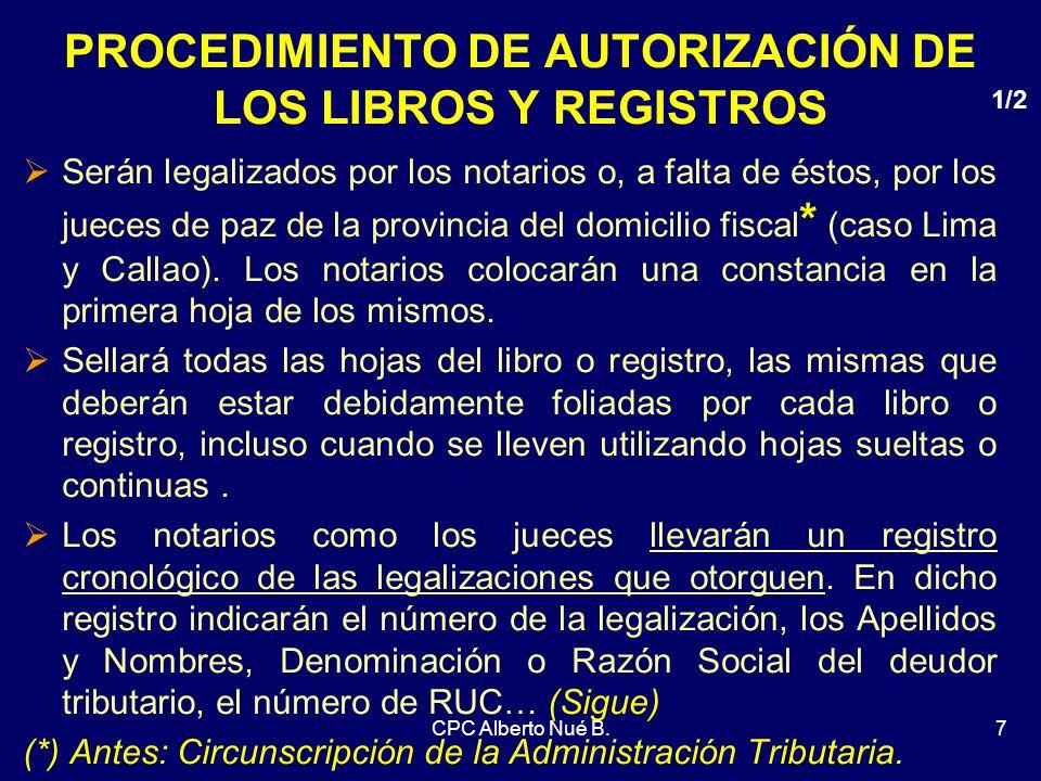 PROCEDIMIENTO DE AUTORIZACIÓN DE LOS LIBROS Y REGISTROS